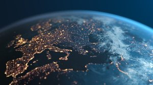 Europe At Night - Planet Earth - City Lights Seen From Space
